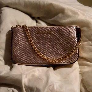 Michael Kors mercer metallic leather chain wallet